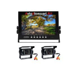 Камеры заднего вида 2 шт с монитором 9 дюймов для грузовиков PZ700/2